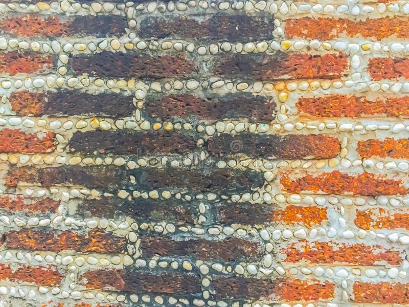 Il blocchetto e la ghiaia della pietra della laterite si precipitano il modello nella palude di frontiera fotografia stock
