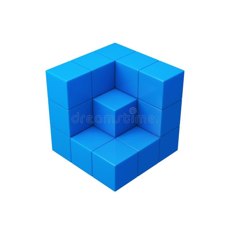 Il blu astratto 3d cuba l'illustrazione royalty illustrazione gratis