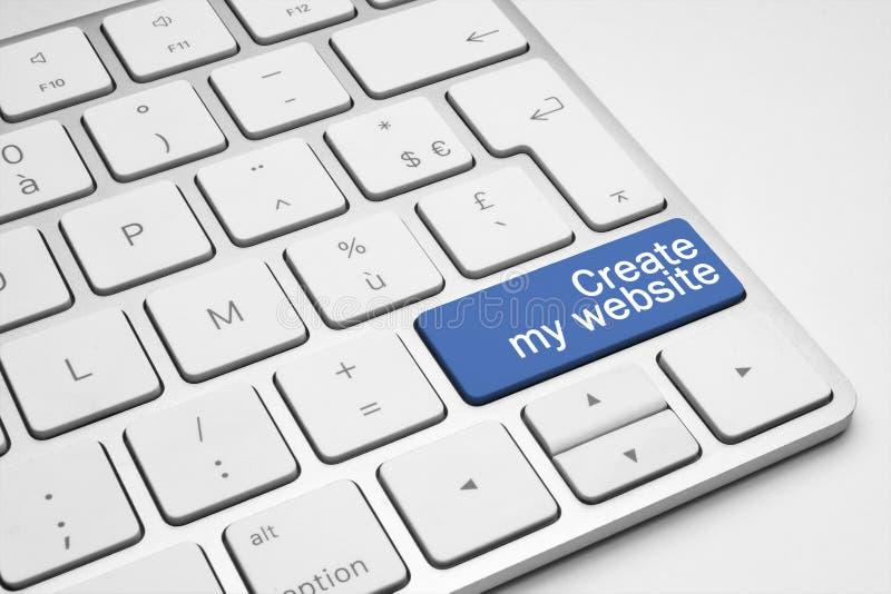 Il blu crea il mio bottone del sito Web immagine stock libera da diritti