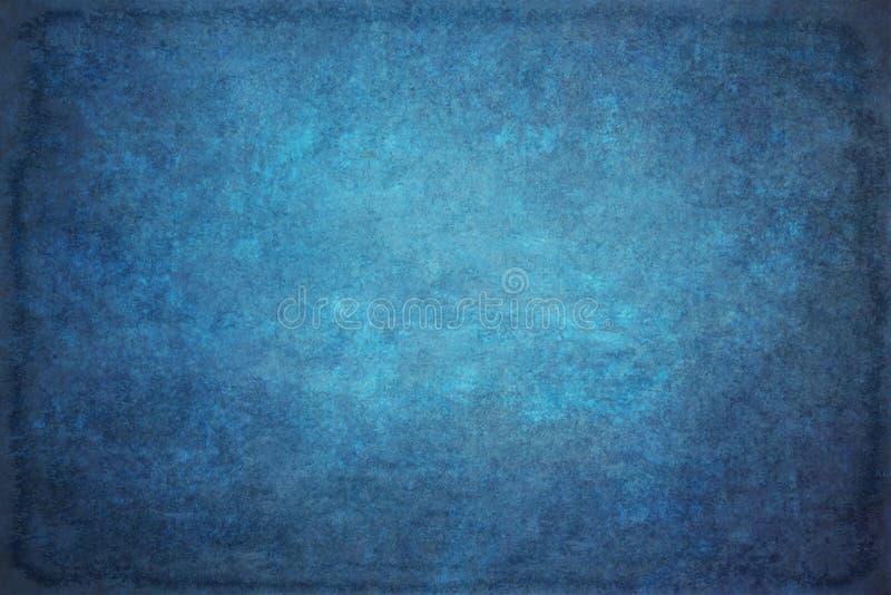 Il blu ha dipinto il contesto dello studio del panno del tessuto della mussola o della tela fotografie stock
