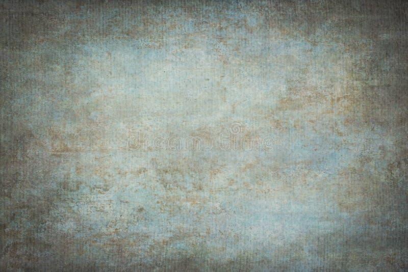 Il blu ha dipinto il contesto dello studio del panno del tessuto della mussola o della tela immagine stock