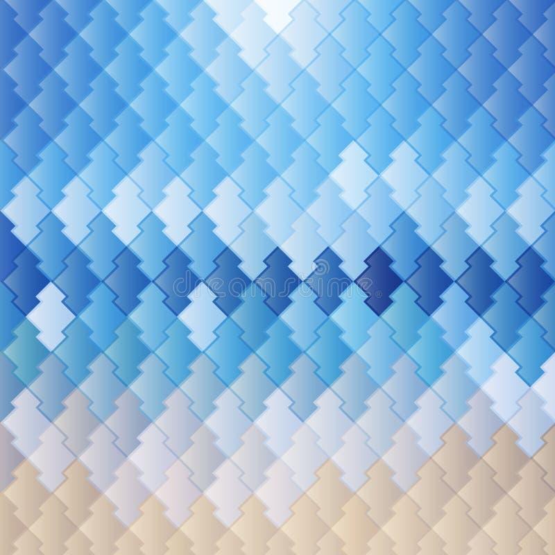 Il blu piastrella il modello del fondo fotografie stock