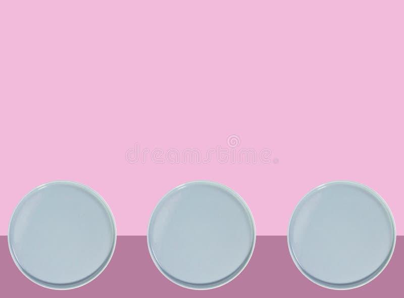 Il blu placca /circles illustrazione di stock
