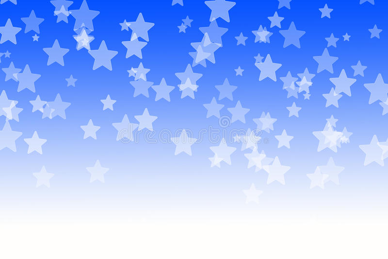 Il bokeh blu astratto stars il fondo illustrazione di stock