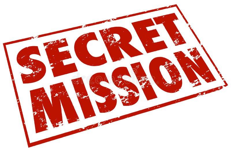 Il bollo rosso di missione segreta esprime l'assegnazione Job Task illustrazione di stock