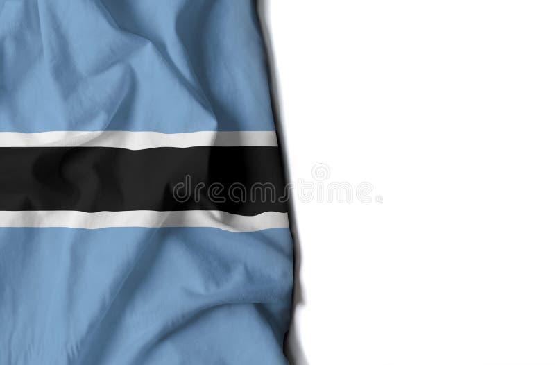 il Botswana ha corrugato la bandiera, spazio per testo immagine stock