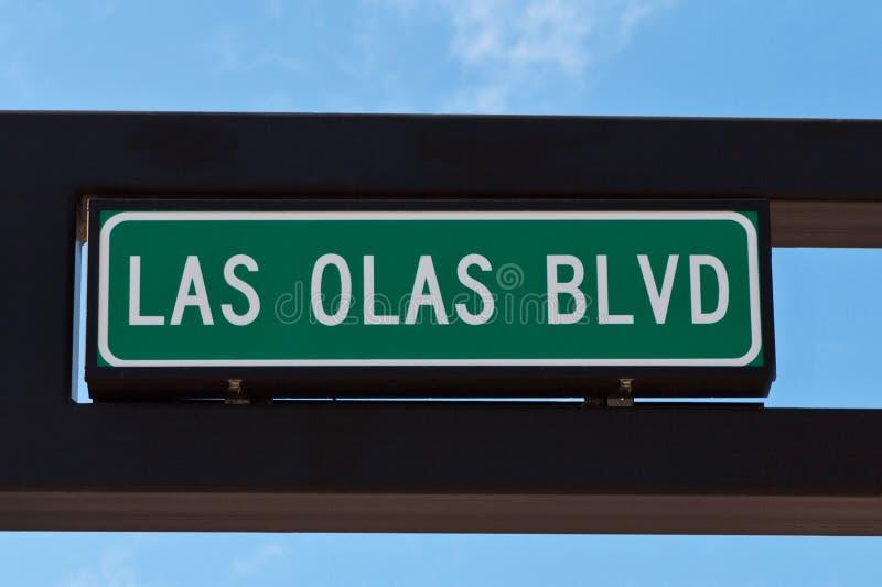 Il boulevard degli ola di Las firma dentro il Fort Lauderdale, Florida. fotografie stock