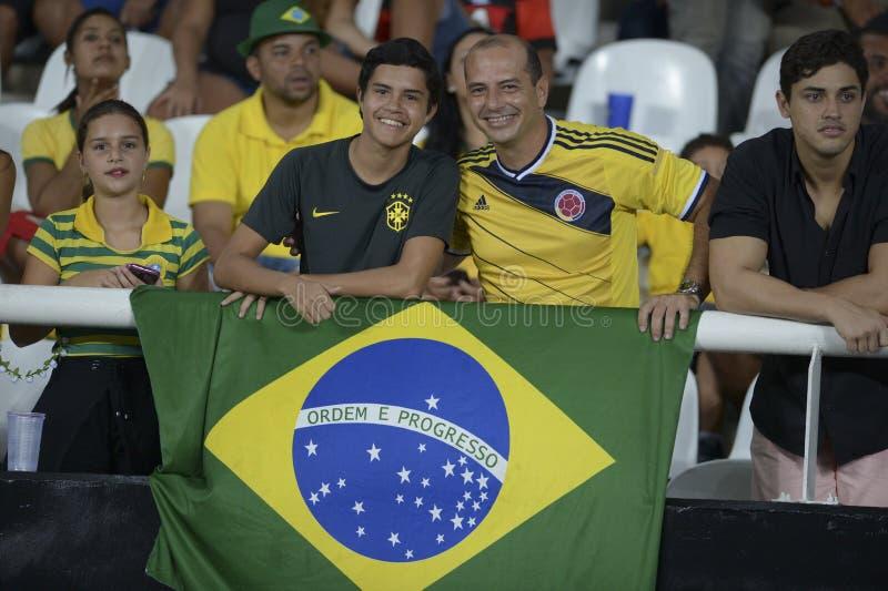 Il Brasile X Colombia fotografia stock