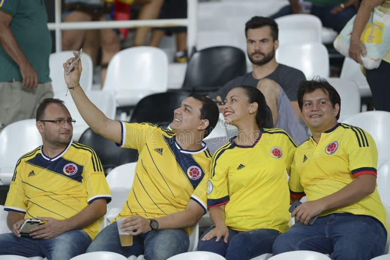 Il Brasile X Colombia fotografie stock libere da diritti
