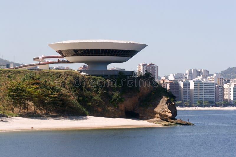 Il Brasile, museo di arte contemporaneo fotografie stock libere da diritti