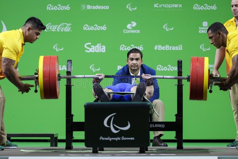 Il Brasile - Rio De Janeiro - sollevamento pesi 2016 del gioco paralimpico fotografia stock