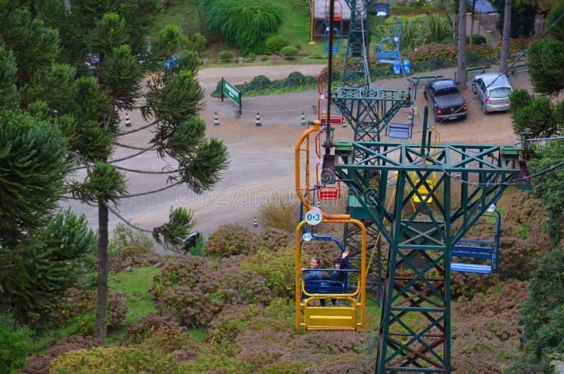 Il Brasile, Rio Grande do Sul, Gramado Canela, Parque famoso fa Caracol fotografia stock libera da diritti