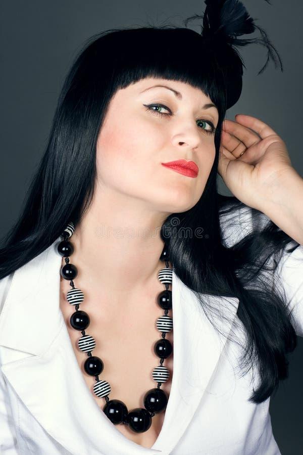 Il brunette sessuale fotografia stock libera da diritti