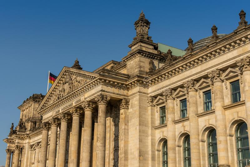Il Bundestag a Berlino fotografia stock libera da diritti