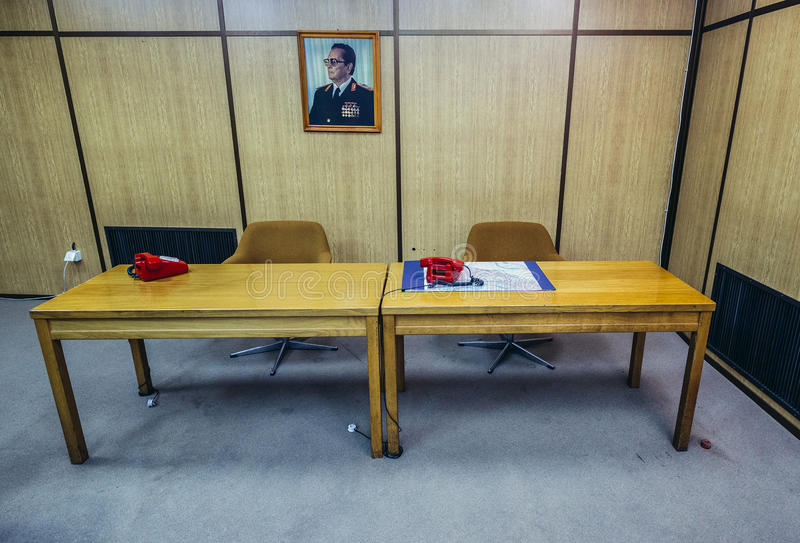 Il bunker di Josip Tito immagini stock libere da diritti