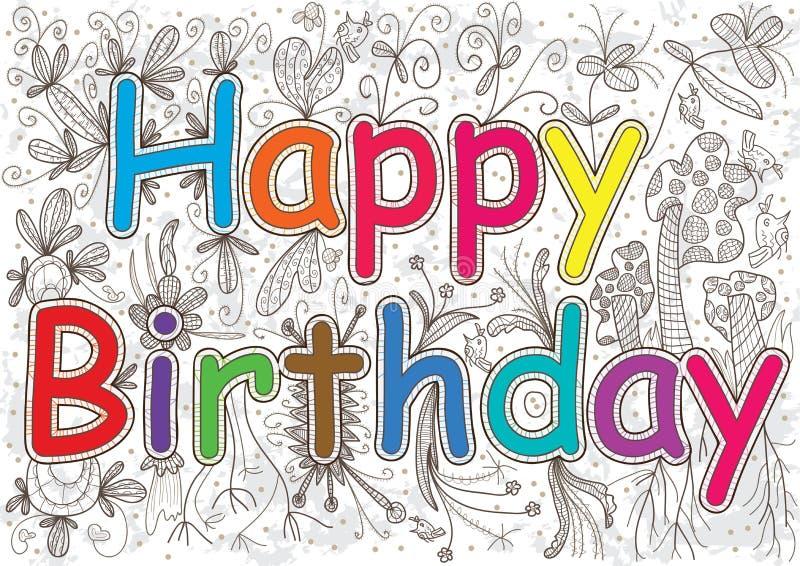Il buon compleanno esprime Flowers_eps illustrazione di stock