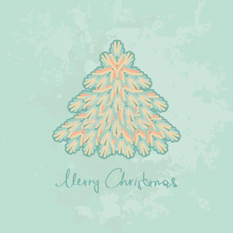 Il Buon Natale carda con l'albero di Natale royalty illustrazione gratis