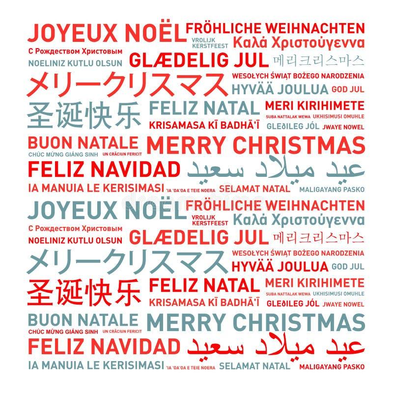 Il Buon Natale carda dal mondo royalty illustrazione gratis