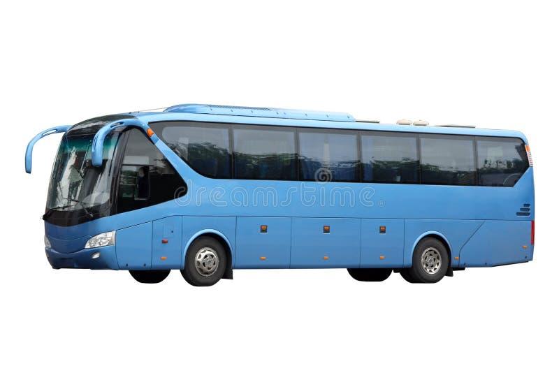 Il bus blu scuro di escursione immagine stock libera da diritti