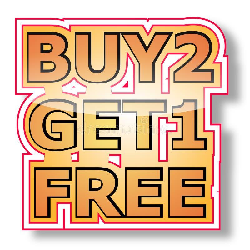 Il Buy 2 ottiene 1 libero illustrazione vettoriale