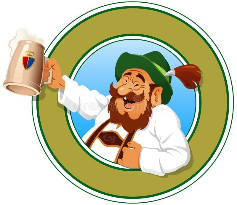 Il cacciatore della birra illustrazione vettoriale
