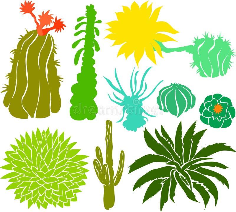 Il cactus ha impostato 01 illustrazione vettoriale