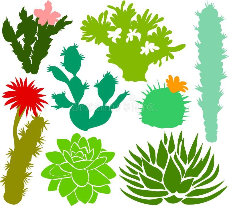 Il cactus ha impostato 02 illustrazione di stock