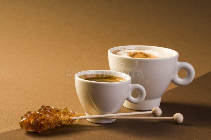 il caffè marrone beve lo zucchero fotografia stock libera da diritti