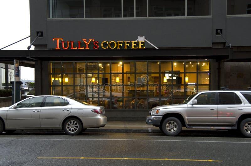 Il caffè Seattle di Tully fotografie stock