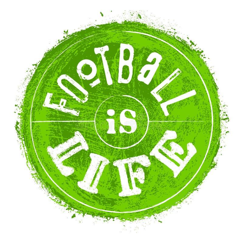Il calcio disegnato a mano dell'iscrizione è iscrizione di vita illustrazione vettoriale