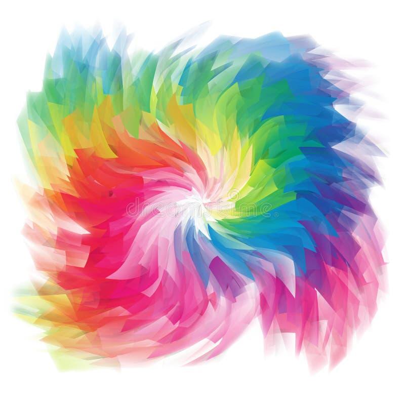 Il calcolatore ha reso la priorità bassa multicolore illustrazione di stock