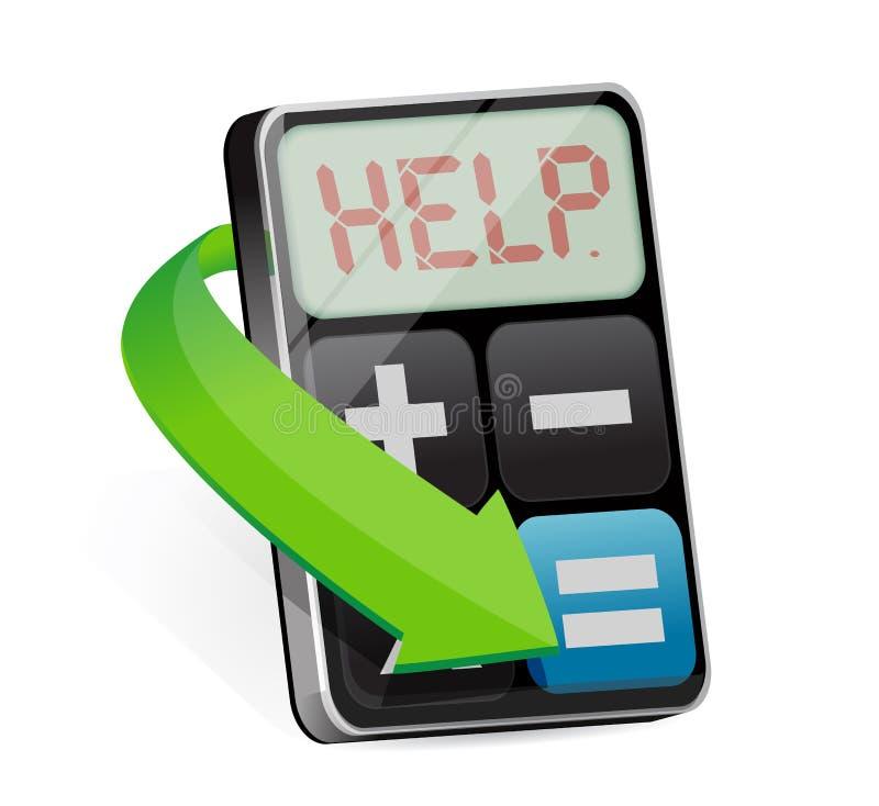 Il calcolatore visualizza l'illustrazione di aiuto di parola illustrazione vettoriale