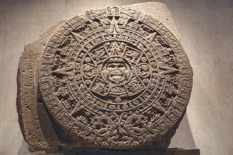 Il calendario azteco immagini stock