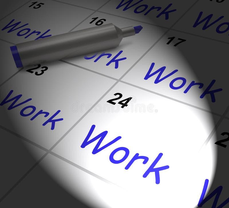 Il calendario del lavoro visualizza l'occupazione Job And Occupation royalty illustrazione gratis