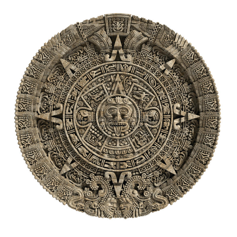 Il calendario maya royalty illustrazione gratis