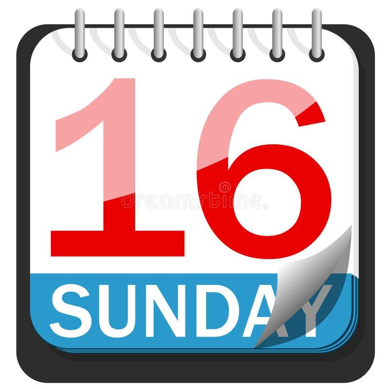 Il calendario pasqua 2017 sedicesima domenica ha isolato illustrazione di stock
