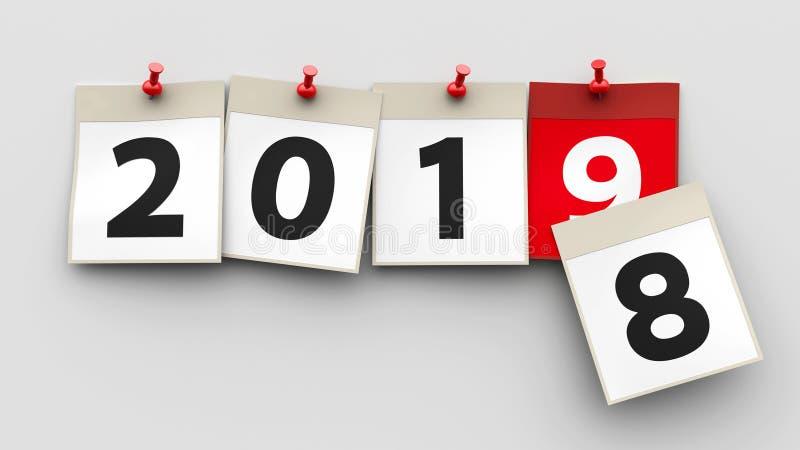 Il calendario riveste 2019 illustrazione vettoriale