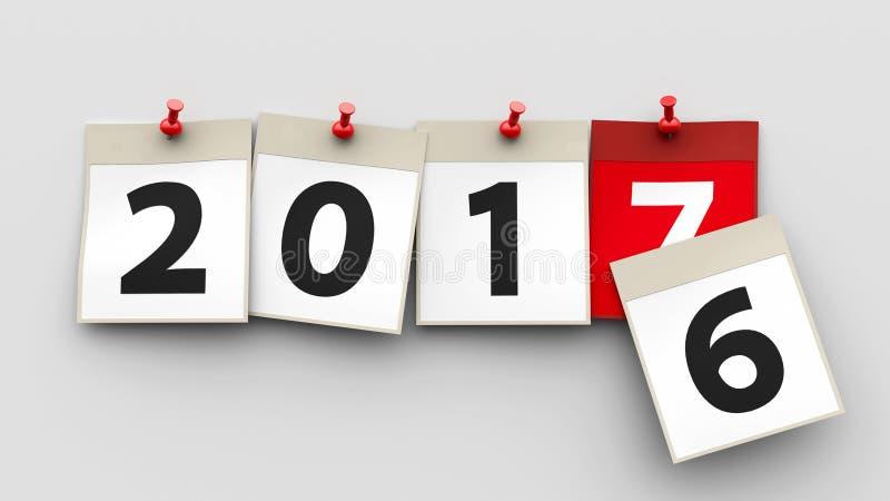 Il calendario riveste 2017 illustrazione di stock