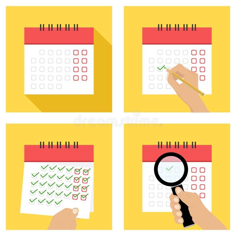Il calendario, sradica il calendario, ha messo la data nel calendario royalty illustrazione gratis