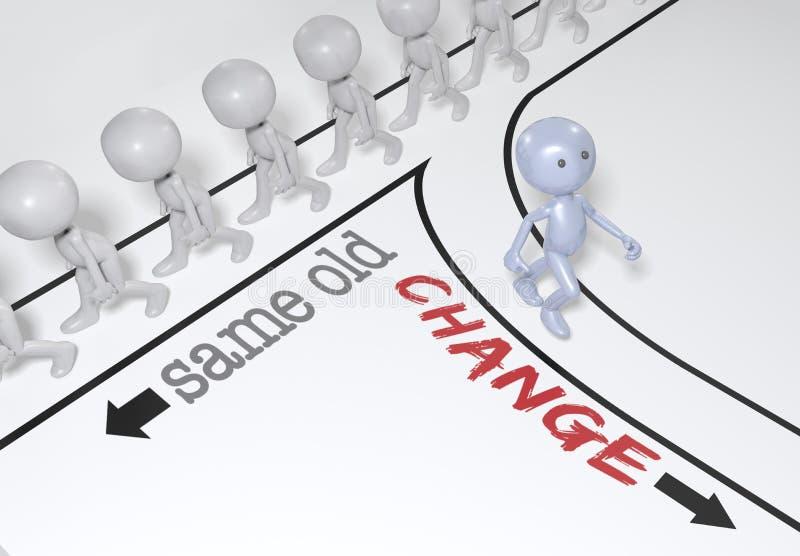 Il cambiamento choice della persona va nuovo percorso royalty illustrazione gratis