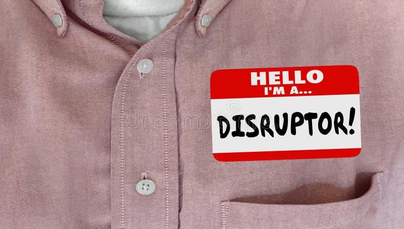 Il cambiamento dell'etichetta di nome del disruptore innova nuove idee royalty illustrazione gratis