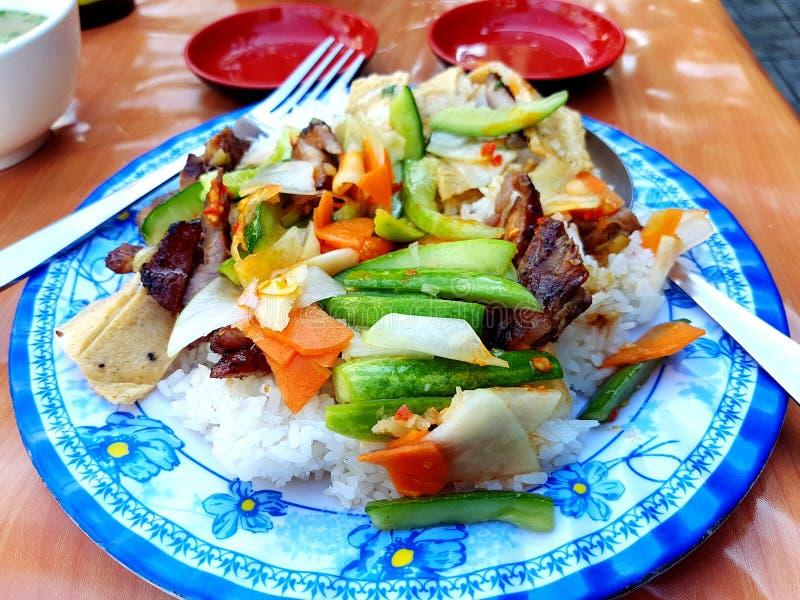 Il Cambodian& favorito popolare x27; prima colazione di s fotografie stock libere da diritti