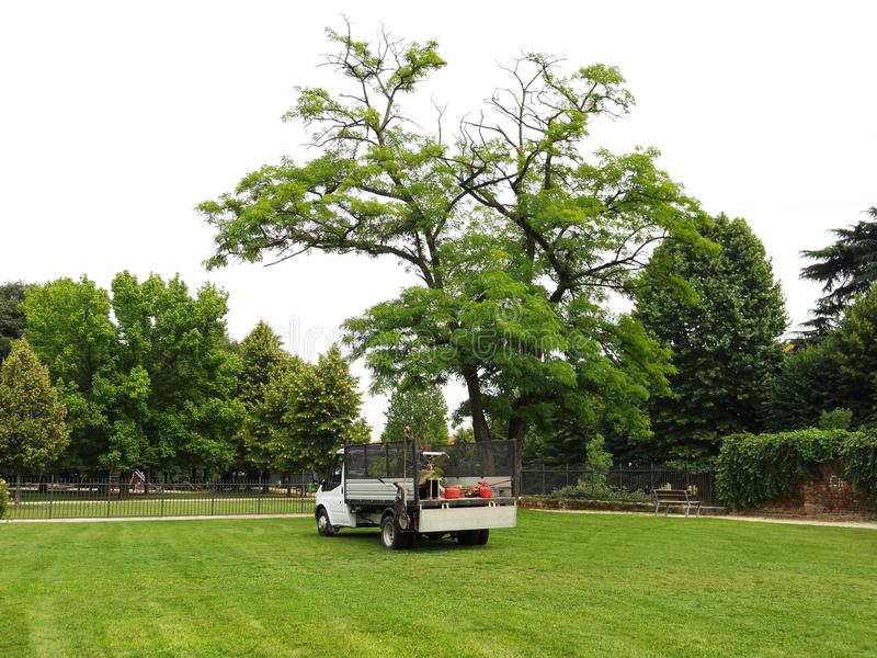 Il Camion Del Giardiniere Fotografia Stock