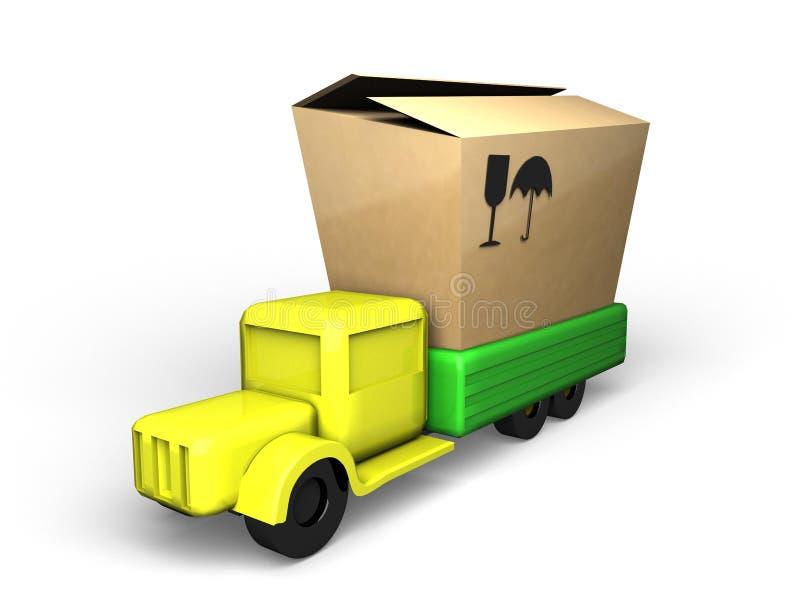 Il camion e la casella fotografia stock