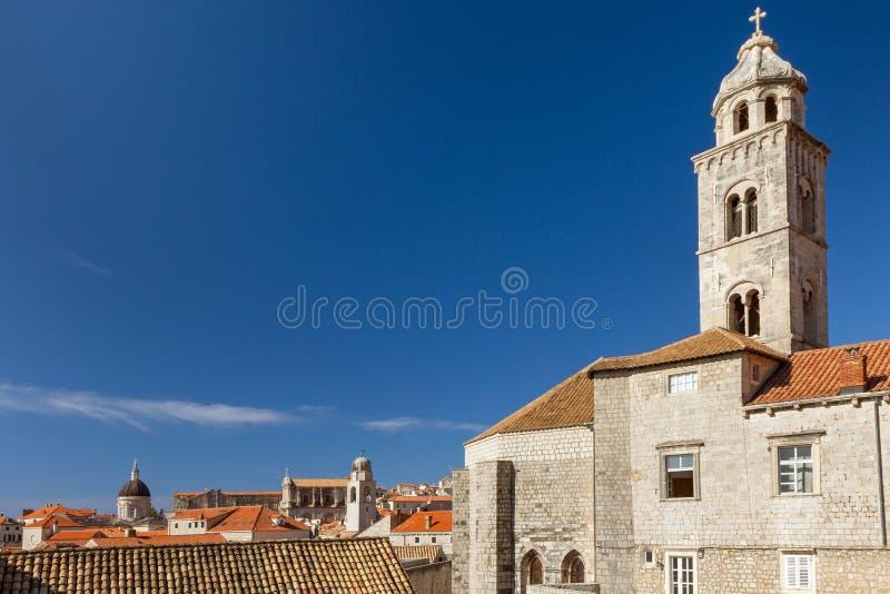 Il campanile del monastero domenicano in Ragusa fotografia stock libera da diritti