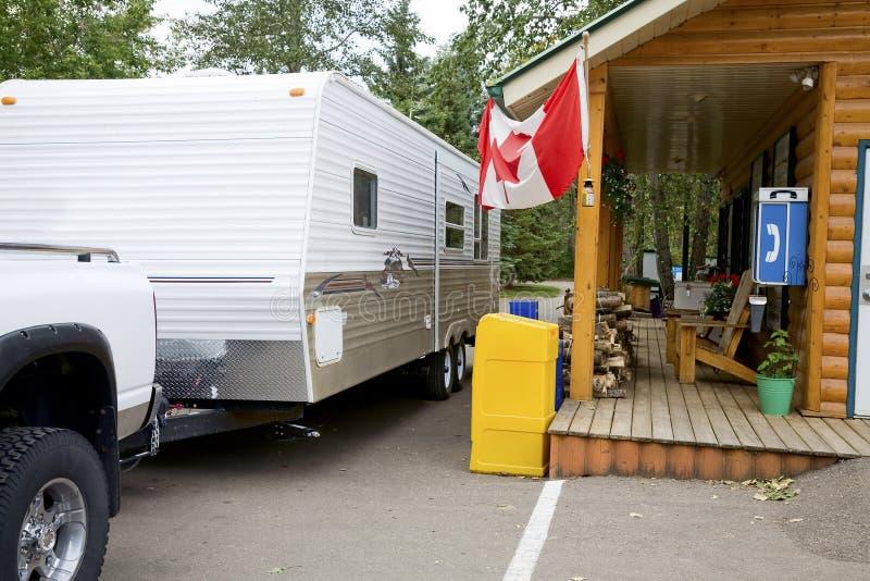 Il Campground controlla immagini stock