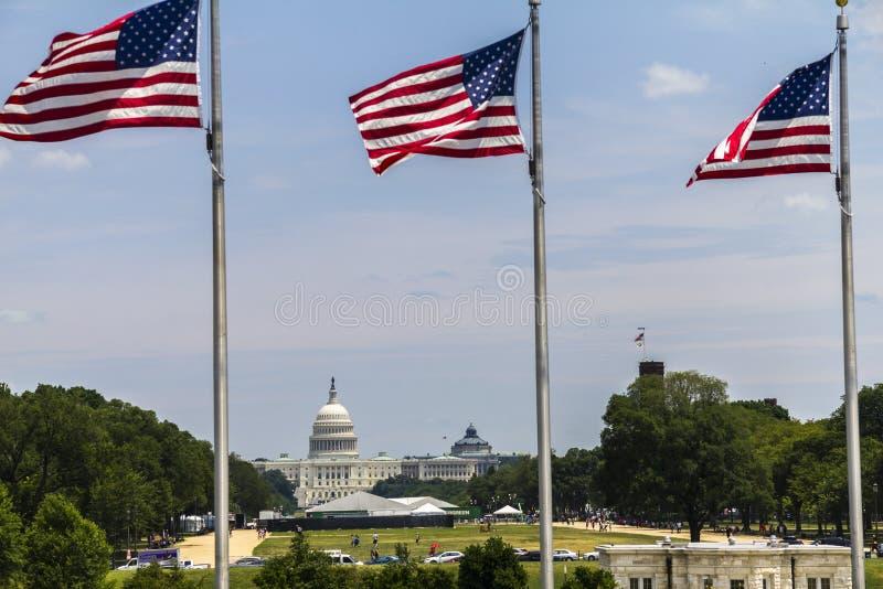 Il Campidoglio degli Stati Uniti a Washington immagine stock