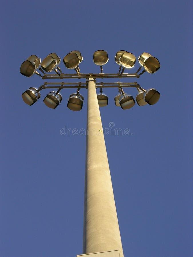 Il Campo Di Calcio Illumina La V Fotografie Stock Libere da Diritti