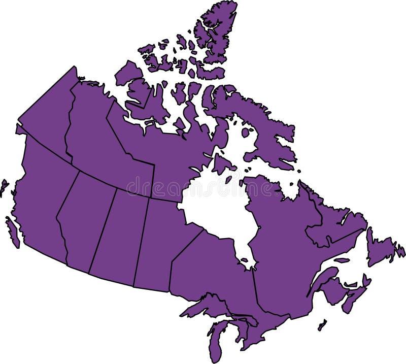 Il Canada illustrazione vettoriale