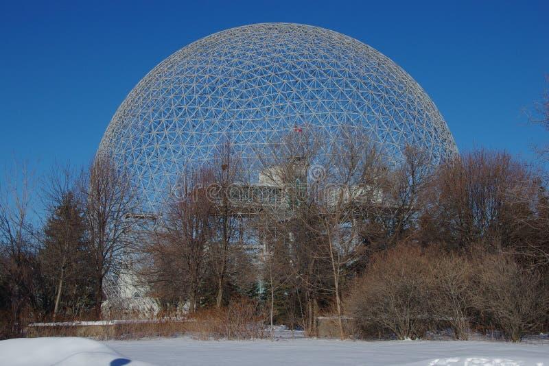 Il Canada, cupola geodetica della biosfera di Montreal fotografia stock libera da diritti